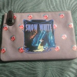 Coach x Disney snow white pouch